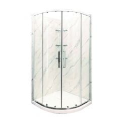 Dolphin Marble Wall Shower Unit With Base And Door