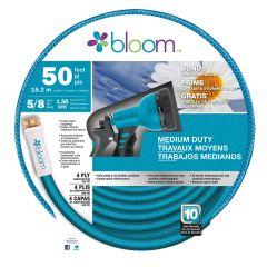 Bloom 5/8 x 50' Medium Duty Hose With Nozzle