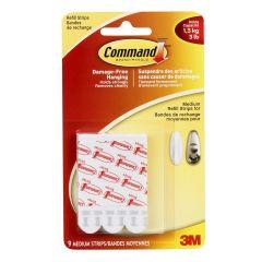 Command™ Medium Refill Strips, White