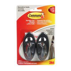 Command™ Medium Terrace Hook, Slate