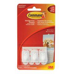 Command Micro Hooks, White
