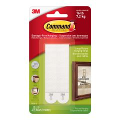 Command Large Picture Hanging Strips, Black