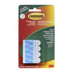 Command Small Outdoor Foam Refill Strips