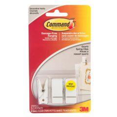 Command™ Small Spring Clip, Quartz