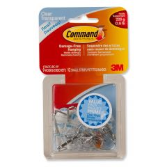 Command Small Wire Hooks Value Pack, Clear