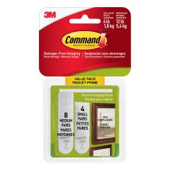 Command Small and Medium Picture Hanging Strips
