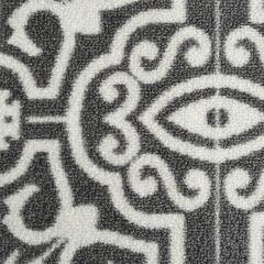 26'' Light Grey Trento Deco Print Runner