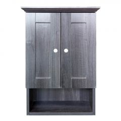 "18"" Black Elmwood Wall Cabinet"