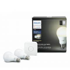 Hue LED White A19 Bulb Starter Kit-2/Pack