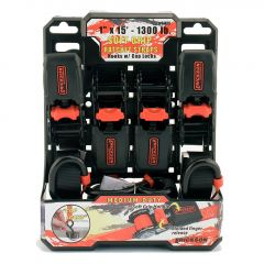 """1"""" x 15' Soft Grip Ratchet 1300 Lb-4/Pack"""