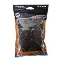 Heavy Duty Dark Brown Felt Value Pack Assorted Sizes