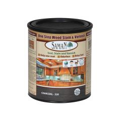 One Step Wood Stain & Varnish Charcoal, 946mL