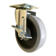 """5"""" Thermoplastic Rubber Swivel Caster with Brake"""