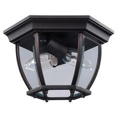 Flush Mount Outdoor Ceiling Light Oil Rubbed Bronze