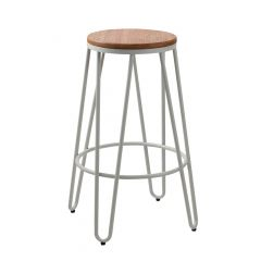 """30"""" White Industrial Chic Bar Stool"""