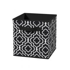 Cubeicals Fabric Drawer Black Iron Gate