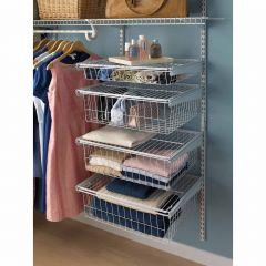 Shelftrack 4-drawer Wire Kit White
