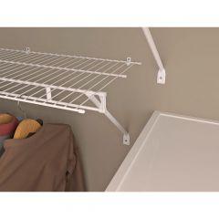"""6' x 16"""" Shelf and Rod Wire Shelf in White"""