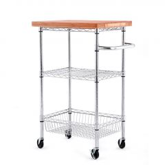 Bamboo Top Kitchen Cart