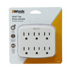 6 Outlet Wall Tap with Phone Cradle