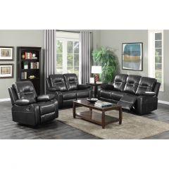 Napolean Black Recliner Sofa