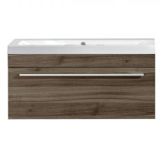 """36"""" Relax Brown Wall Hung Vanity With Top"""
