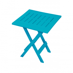 Resin Folding Side Table-Teal