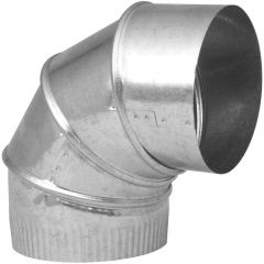 "7"" 90 Degree Galvanized Adjustable Pipe Elbow"