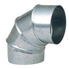 "8"" 90 Degree Galvanized Adjustable Pipe Elbow"