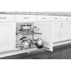 18 Inch Two-tier Pull-Out Baskets Soft Close