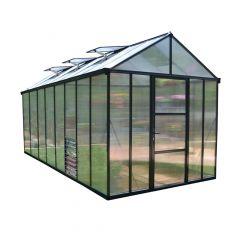 Glory Greenhouse 8' x 16' - Grey Frame - 10 mm Panels