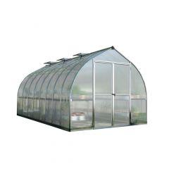Bella Greenhouse - 8' x 16' Aluminum Frame - 10 mm Panels
