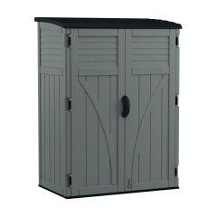 Stoney Grey Vertical Storage Shed