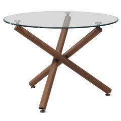 Rocca Metal Walnut Table Legs Only