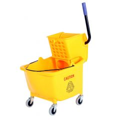 Sidepress Bucket And Wringer Yellow 35 Quart