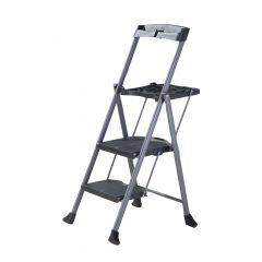 Steel Folding Deluxe 2-Step Ladder
