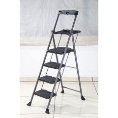 Steel Folding Deluxe 4-Step Ladder