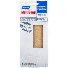 """3-2/3"""" x 9"""" Multisand Sheet Asst Grit-6/Pack"""