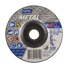 "4"" x 1/8"" x 5/8"" Depressed Center Metal Wheel"