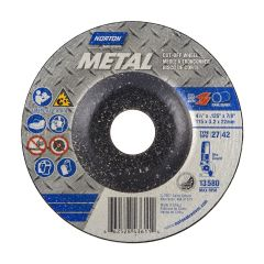 "4.5"" x 1/8"" x 7/8"" Depressed Center Metal Wheel"