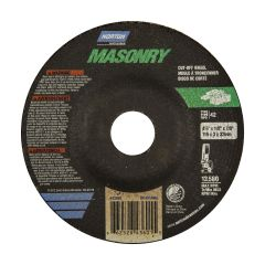 "4-1/2"" x 1/8"" x 7/8"" Depressed Center Masonry Wheel"