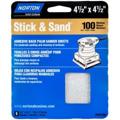 "4-1/2"" x 4-1/2""Multisand Sheet 100 Grit-5/Pack"
