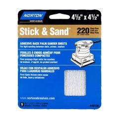 "4-1/2"" x 4-1/2""Multisand Sheet 220 Grit-5/Pack"