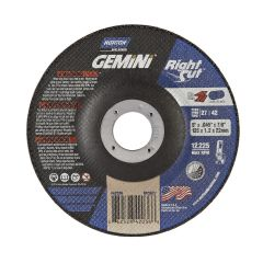 "5"" x .045"" x 7/8 Depressed Center Metal Gemini Cut-Off Blade"
