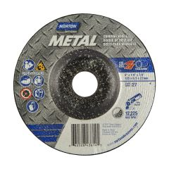 "5"" x 1/4"" x 7/8"" Depressed Centre Metal Wheel"