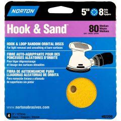 """5"""" x 8 Hole Disc Aluminum Oxide 80 Grit-4/Pack"""