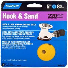 """5"""" x 8 Hole Disc Aluminum Oxide 220 Grit-4/Pack"""
