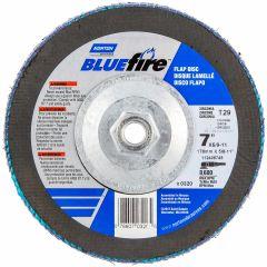 """7"""" x 5/8""""-11 BlueFire Flap Discs 40 Grit"""