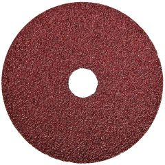 "Resin Fibre Aluminum Oxide Sanding Disc 7"" x 7/8"" 24 Grit"
