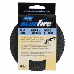 """Norton BlueFire Flap Discs 4-1/2"""" 60 Grit"""